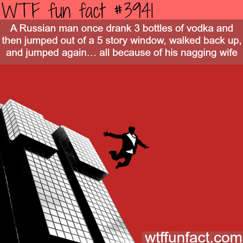 Russian man survives a 5 story fall