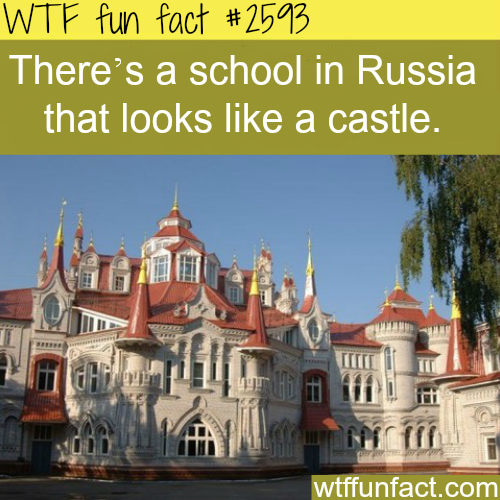 Russian school looks like castle - WTF fun facts