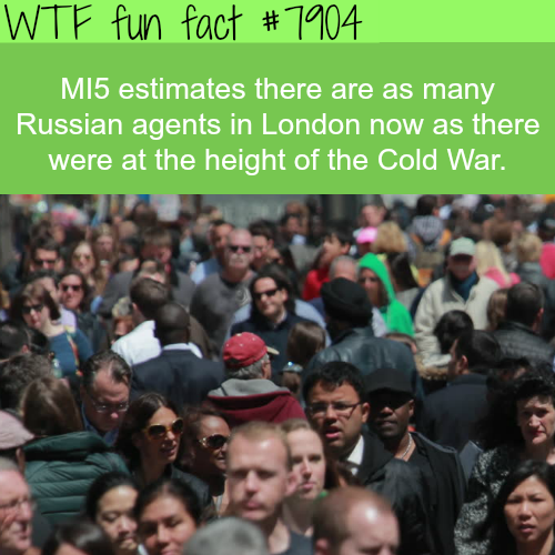 Russian spies in London - WTF fun facts