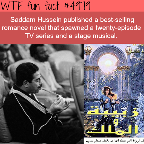 Saddam Hussein's novel - WTF fun facts