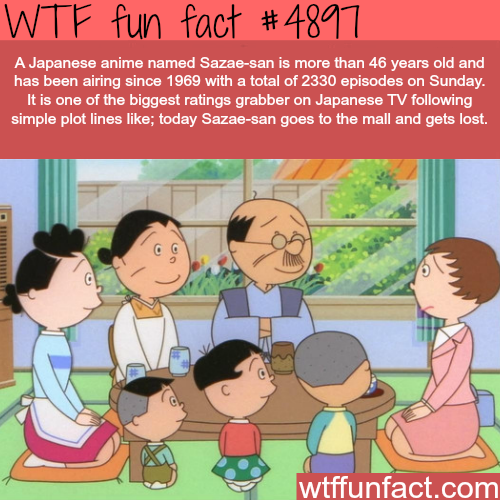 Sazae-san - WTF fun facts