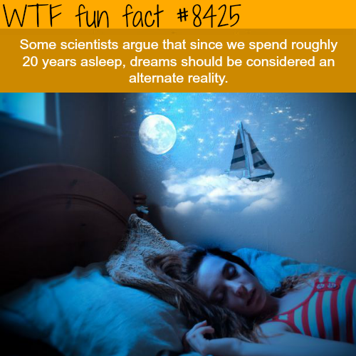Scientist argue that dreams should be considered an alternate reality - WTF fun facts