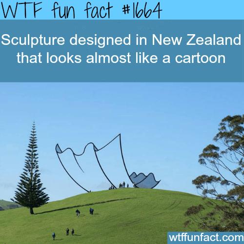 Sculpture like a cartoon