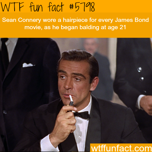 Sean Connery in James Bond - WTF fun facts