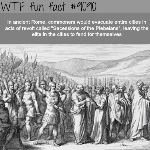 Secessions of the Plebeians - WTF fun fact