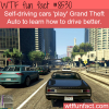 self driving cars play grand theft auto to learn