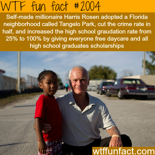 Self-made millionaire Harris Rosen reforms a whole town - WTF fun facts