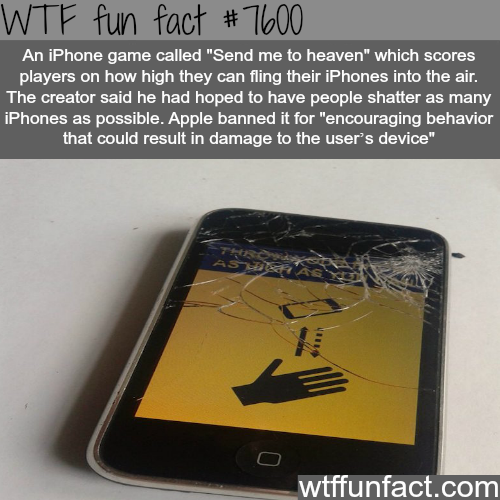 Send me to heaven iPhone game - WTF fun fact