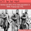 serbia lost 60 of its male population in ww1
