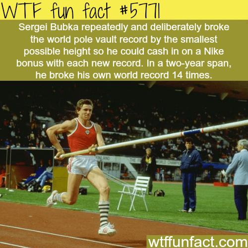 Sergei Bubka - WTF fun facts
