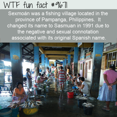 Sexmoán was a fishing village located in the province of Pampanga