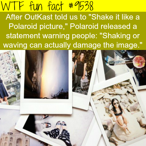 Shake it like a Polaroid picture - WTF fun fact