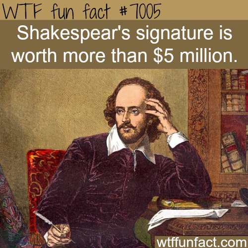 Shakespeare's signature - WTF fun facts