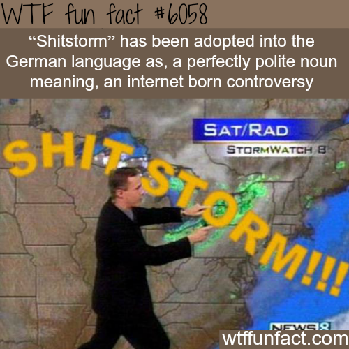 Shitstorm - WTF fun facts