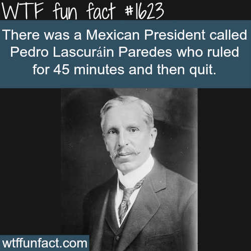 Shortest Serving President in the world -WTF fun facts