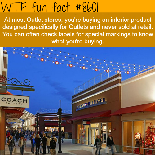 Should you buy clothes from Outlet stores? - WTF fun facts