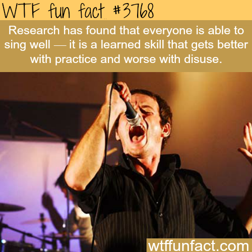 Singing is a skill learned