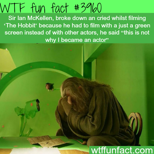 """Sir Ian McKellen cries during the filming of """"The Hobbit"""" - WTF fun facts"""