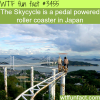 skycycle the pedal roller coaster in japan wtf