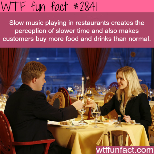 Slow music playing in resturants -  WTF fun facts