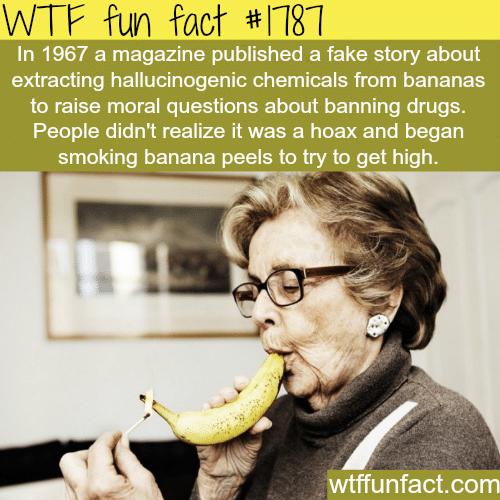 Smoking bananas -WTF fun facts
