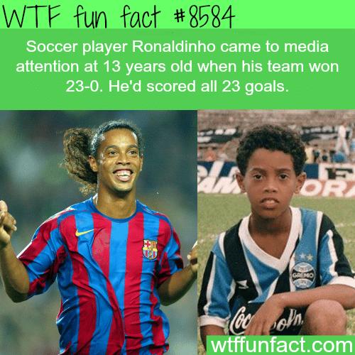 Soccer star Ronaldinho - WTF fun facts
