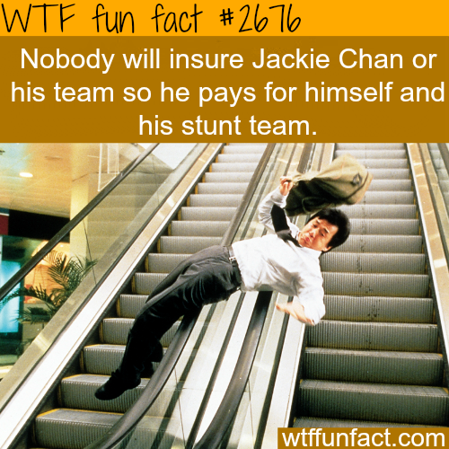 some facts about Jackie Chan -WTF funfacts