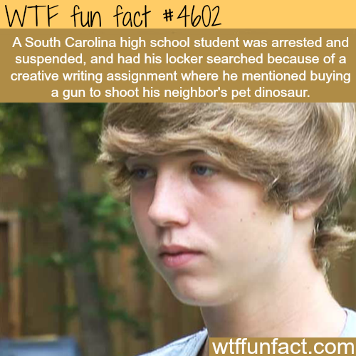 South Carolina student gets arrested for an essay -   WTF fun facts