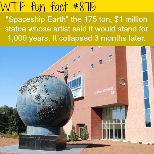 Spaceship earth - WTF fun facts