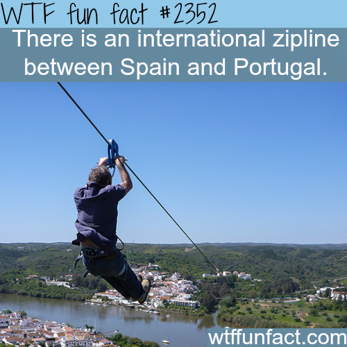 Spain and Portugal zipline - WTF fun facts