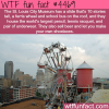 st louis city museum has a bus and ferris wheel