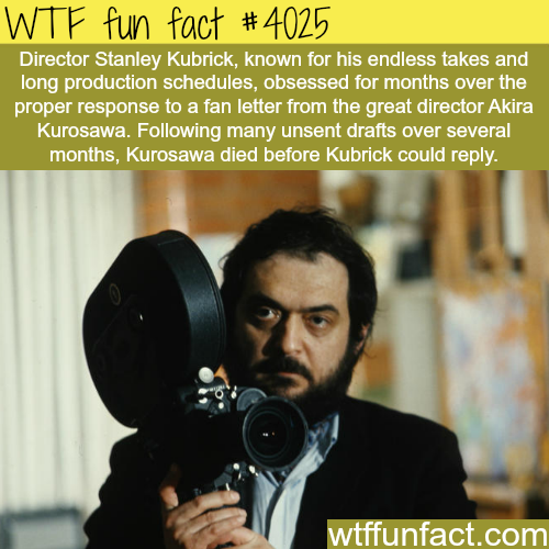 Stanley Kubrick's long production schedules - WTF fun facts