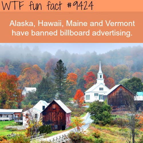 States that ban billboards - WTF fun fact
