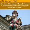 statue of baby eating monster in switzerland wtf