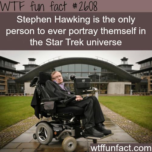 Stephen Hawking in Star Trek -WTF funfacts