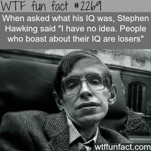 Stephen Hawking IQ -WTF fun facts