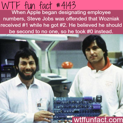 Steve Jobs and Steve Wozniak -  WTF fun facts