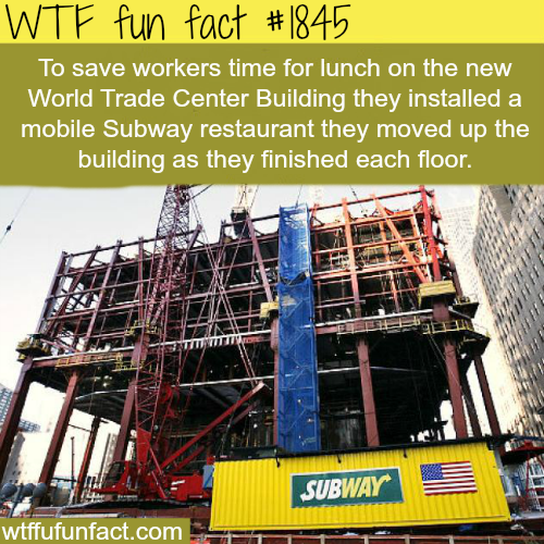 Subway in the new World Trade center - WTF fun facts