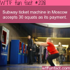subway ticket machine in moscow pay with squats