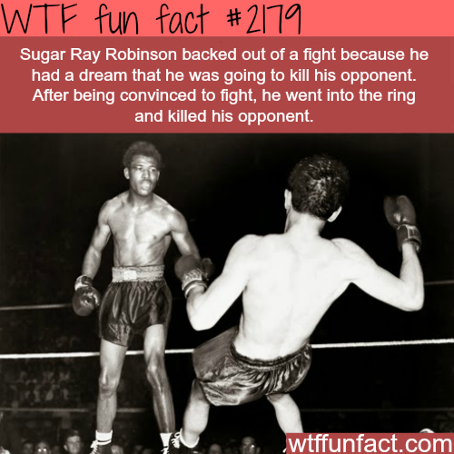 Sugar Ray Robinson - WTF fun facts