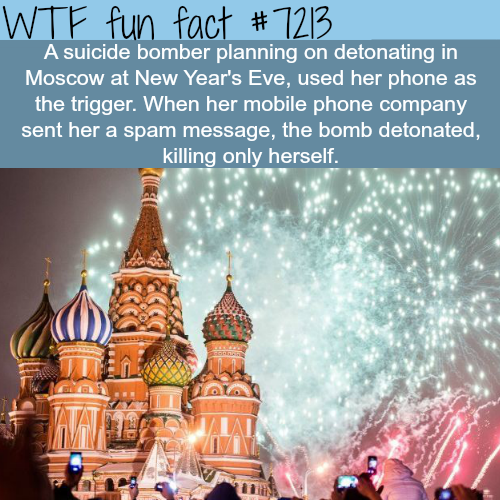 Suicide bomber kills only herself - WTF Fun Fact