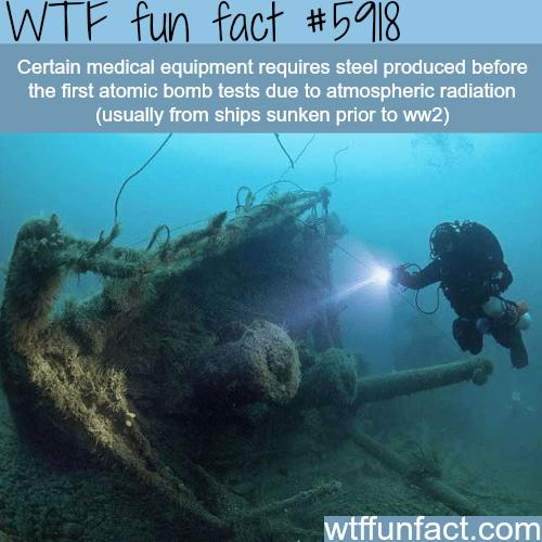 Sunken ships - WTF fun facts