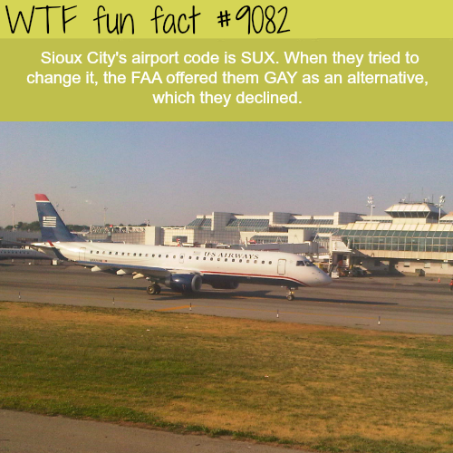 SUX Airport - WTF fun fact