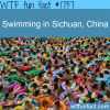 swimming in sichuan china