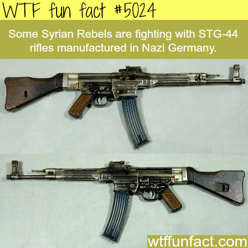 Syrian rebels use old rifles manufactured in NAZI Germany  - WTF fun facts