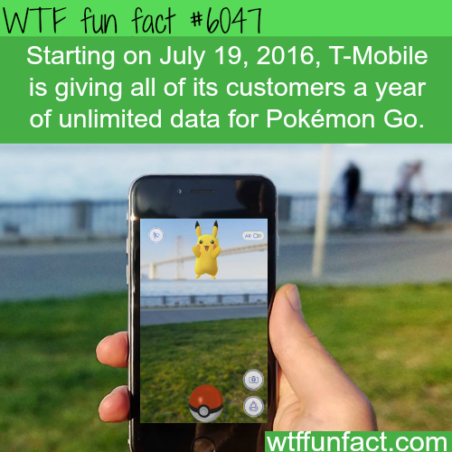 T-Mobile is giving unlimited data for Pokemon Go - WTF fun facts