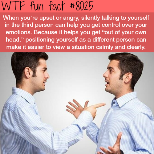 Talking to yourself - WTF fun fact
