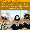 teddybears in dutch police cars
