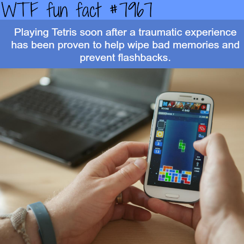 Tetris can help you wipe out bad memories - WTF fun fact