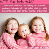 the affect of siblings wtf fun fact